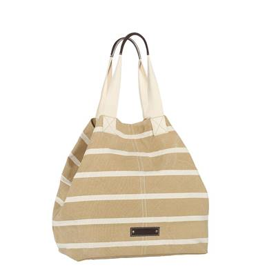 Striped canvas tote - STANFORD