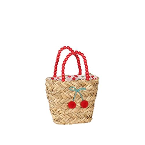 Children's basket with cherry motif - CERISES