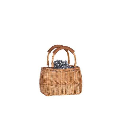 Small trendy wicker hand carried basket - MINNIE