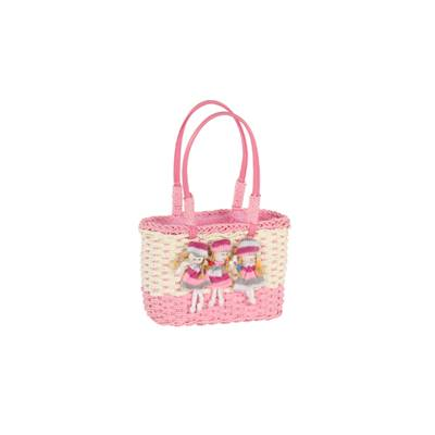 Cellulose basket with doll accessory - POUPEE