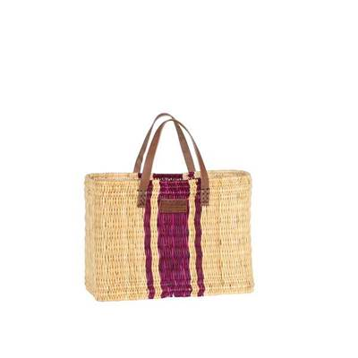 Reed handbag in striped pattern - ROZAYA