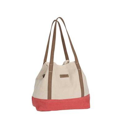 Trendy two-color tote - NELSON