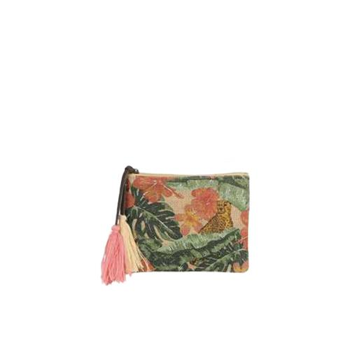 Jute pouch with trendy print - MINI JUNGLE