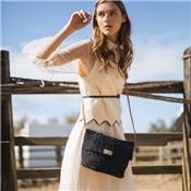Crochet cross body bag with flap - ALVEOLA