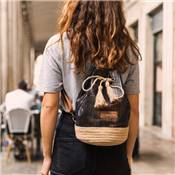 Trendy shiny backpack with etnic patern - HILTON